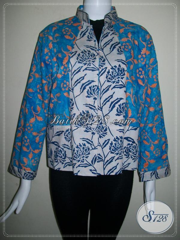 Bolero Batik Wanita Model Bolak Balik Dua Warna [BLR448CS]