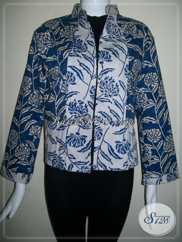 Bolero Batik Dua Warna,Bolero Batik Lengan Panjang Untuk Wanita Elegan [BLR454CS]