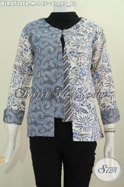 Jual Baju Batik Model Balero, Busna Batik Istimewa Untuk Perempuan Muda Masa Kini Yang  Suka Tampil Cantik Dan Anggun, Bahan Halu Motif Keren Proses Cap Warna Alam, Size M