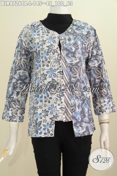 Baju Batik Balero Kwalitas Istimewa, Busana Kerja Model Terbaru Dengan Desain Mewah Berbahan Halus Proses Cap Warna Alam Tampil Stylish, Size L