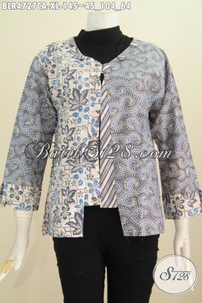 Jual Baju Balero Batik Istimewa, Hadir Dengan Model Terbaru Yang Berpadu Dengan Motif Trendy Serat Bahan halus Proses Cap Warna Spesi Buat Wanita Karir Dewasa, Size XL