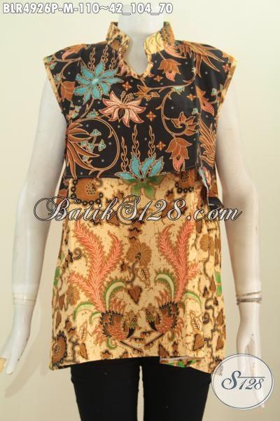 Baju Batik Elegan Dual Warna Model Vest Balero, Baju Batik Modern Untuk Tampil Gaya Dan Berkelas