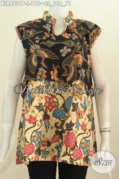 Toko Busana Batik Online Paling Lengkap, Sedia Vest Balero Batik Printing Dual Motif, Baju Batik Dual Warna Kwalitas Istimewa Harga Biasa, Size L