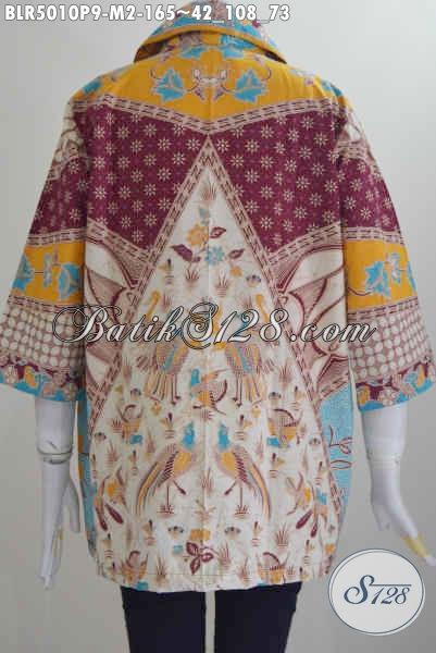 Baju Balero Batik ELegan Motif Klasik Sinaran, Baju Kerja Batik Proses Printing Desain Mewah Untuk Penampilan Lebih Mempesona, Size M