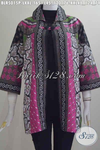 Jual Online Balero Batik Kwalitas Istimewa, Produk Baju Batik Klasik Motif Sinaran Proses Printing Ukuran L, Berbahan Halus Harga 100 Ribuan