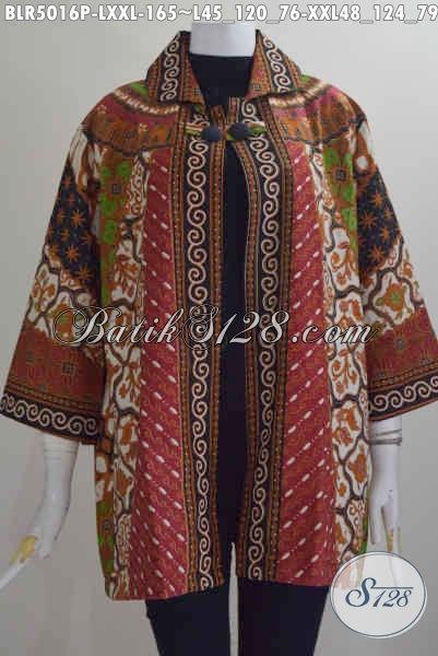 Baju Balero Batik Istimewa Motif Sinaran Desain Elegan Buat Wanita Dewasa, Baju Batik Printing Mewah Harga 165K, Size L – XXL