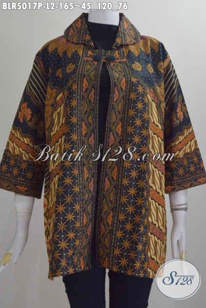 Jual Online Balero Batik Wanita Ukuran L, Produk Busana Batik Elegan Full Furing Bahan Adem Proses Printing Untuk Tampil Gaya Dan Anggun [BLR5017P-L]