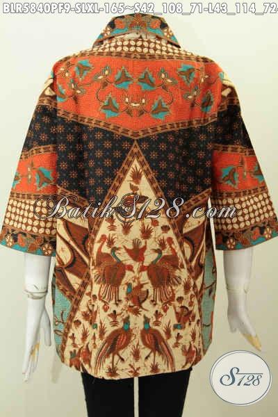 Balero Batik Istimewa, Hadir Dengan Motif Klasik Sinaran Proses Printing Bahan Halus Daleman Pake Furing Untuk Penampilan Lebih Modis Dan Elegan [BLR5840PF-XL]