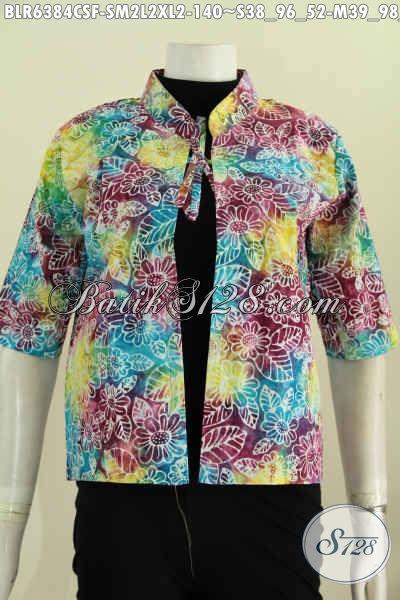 Jual Baju Batik Balero Cap Smoke, Pakaian Batik Solo Halus Wanita Muda Dan Dewasa Untuk Penampilan Lebih Gaya, Size S – M – L – XL