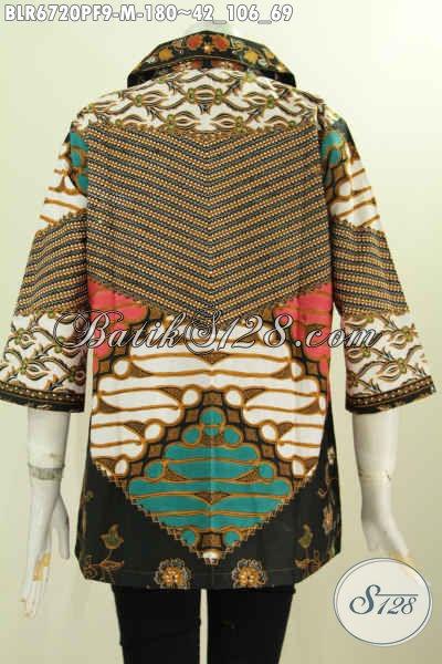 Balero Batik Motif Klasik, Busana Batik Modis Berkelas Cocok Buat Ke Kantor Bahan Adem Daleman Full Furing [BLR6720PF-M]
