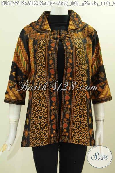 Bolero model baju batik kerja wanita terbaru