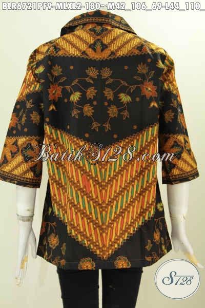 Balero Batik Printing Motif Klasik Daleman Pakai Furing, Busana Batik Istimewa Untuk Tampil Mempesona Hanya 180K [BLR6721PF-XL]