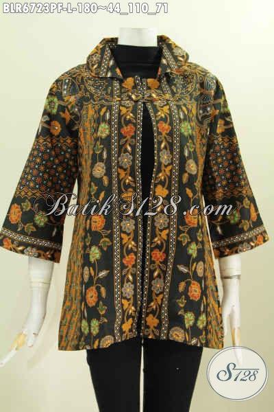 Baju Balero Solo Halus Motif Klasik Nan Mewah, Hadir Dengan Bahan Adem Full Furing Proses Printing Cocok Untuk Acara Resmi [BLR6723PF-L]