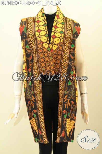 Model Outer Batik Panjang Nan Modis Pakaian Batik Tanpa Lengan