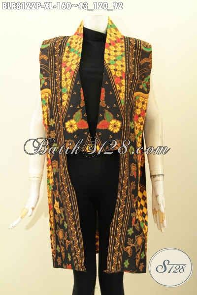 Model Outer Batik Panjang 2020, Produk Balero Batik Keren Berpad Motif Klasik Berkelas, Bahan Adem Proses Printing Harga 160 Ribu [BLR8122P-XL]