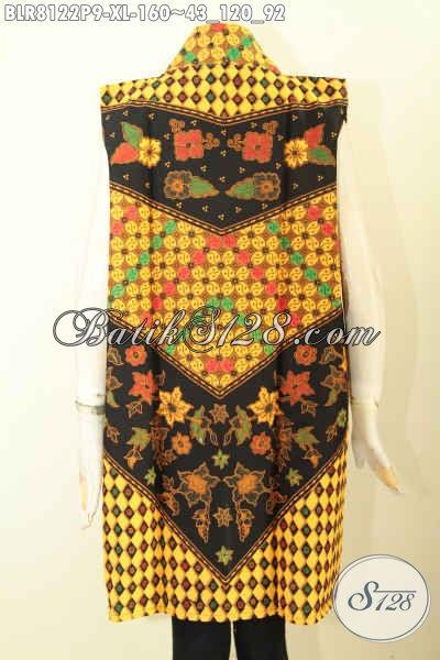 Produk Pakaian Batik Gaul Wanita Terkini, Outer Batik Motif Klasik Proses Printing Bahan Halus Kwalitas Istimewa Hanya 100 Ribuan, Size XL
