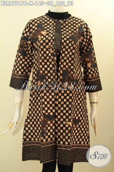 Baju Batik Wanita Keren Motif Bagus, Outer Batik Modis Bahan Halus Proses Printing Tampil Gaya Kekinian