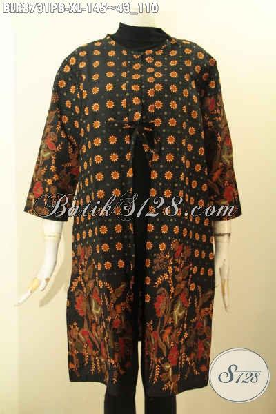Jual Outer Batik Modern Kwalitas Bagus Desain Kekinian, Pakaian Batik Solo Untuk Wanita Tampil Gaya Dan Berkelas Hanya 100 Ribuan