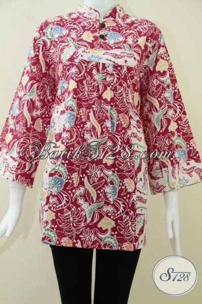 Batik Wanita Ukuran Big Size Warna Merah Cerah [BLS1014C-XXL]