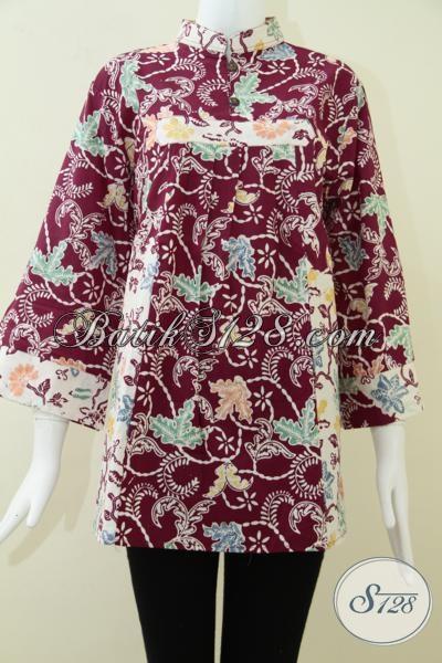 Baju Batik Wanita TerkiniTerbaruUkuran Big Size BLS1016CXXL