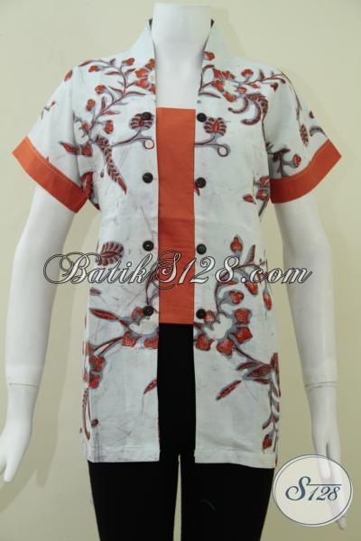 Busana Batik Wanita Motif Terlaris Dan Terbaru Tahun 2014 [BLS1026BT-XL]