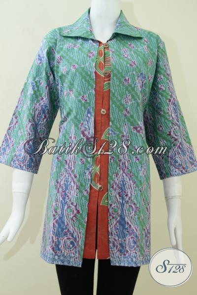 Baju Batik Ukuran Jumbo Untuk Wanita Aktif Bls1066p Xxl