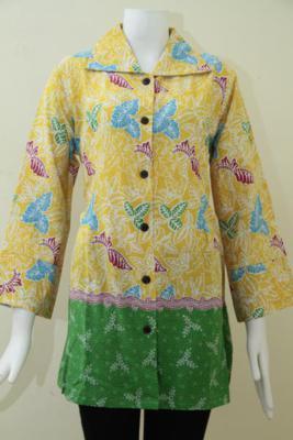 Baju BAtik Wanita Harga Murah,Batik Printing Untuk Seragam Kantor [BLS1088P-L]
