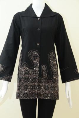 Pusat Penjualan Busana Batik Tulis Tren Terbaru, Blus Batik Resmi Motif Modern Cocok Untuk Ibu-Ibu Pejabat Manager Hingga Direktur, Size L