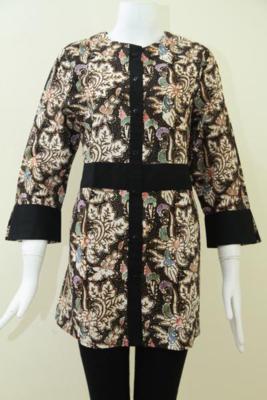 Baku Batik  Wanita Karir Modern Dan Trendy, Blus Batik Keren Paling Di Cari Saat Ini, Size L