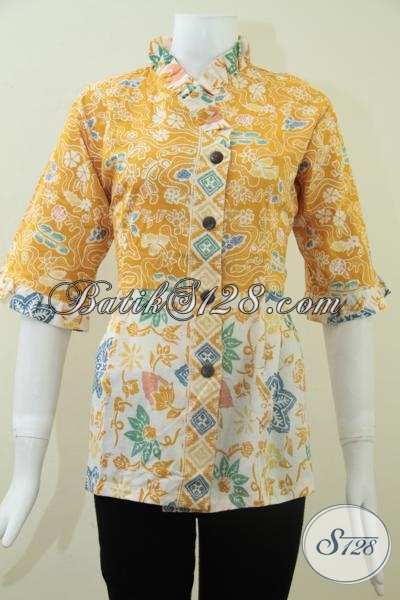 Jual Online Busana Batik Wanita Muda Karir Aktif Enerjik, Baju Batik Resmi Untuk Pesta Kondangan Dan Rapat, Size M