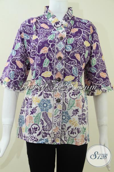 Busana Batik Resmi Dan Santai Wanita Muda Masa Kini, Blus Batik Kerja Motif Klasik Modern Keren Banget Sis, Size L