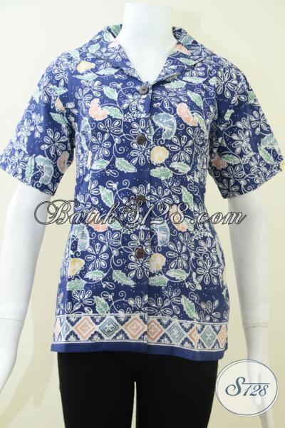 Butik Batik Pakaian Wanita Karir, Melayani Pembelian Online Blus Batik Tren Mode Terbaru Mewah Berkelas Harga Murah, Size S – M – L