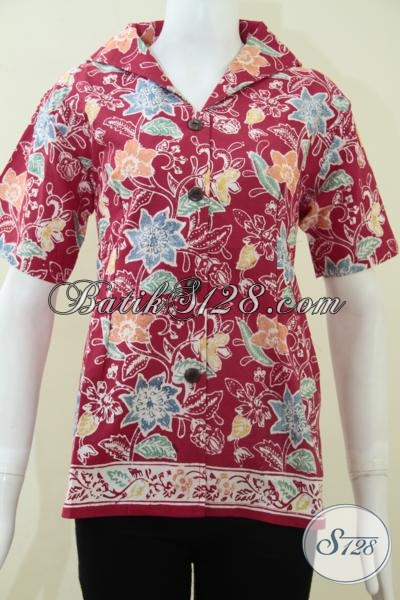 Blus Batik Wanita Model Feminin,Baju Batik Wanita Elegan [BLS1137C-M]
