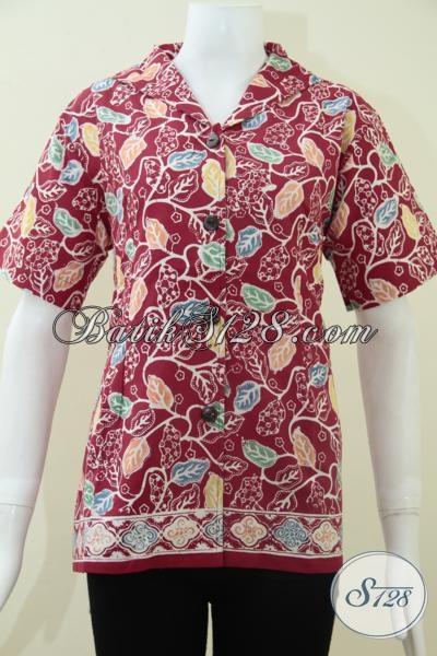 Baju Batik TRendy Wanita Lengan Pendek [BLS1139C-S,L]