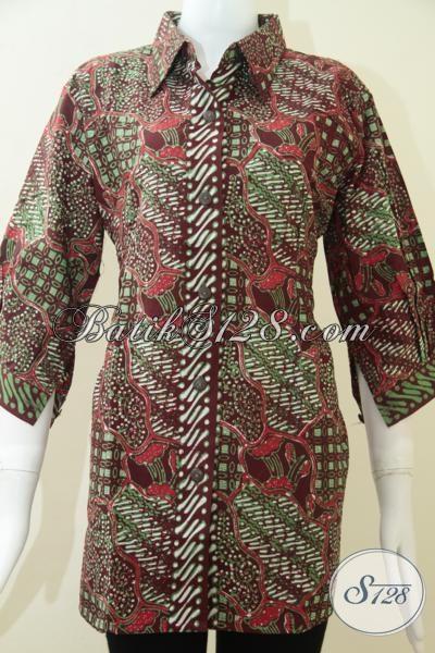 Trend BAtik Elegan Dan Keren Untuk Wanita Pejabat,Motif Batik Lembut Asli Solo [BLS1186CT-XL]