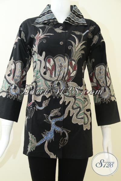 Baju BAtik Tulis Asli Solo Untuk Wanita Karir [BLS1211T-M]