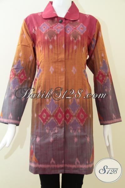 Butik Baju Tenun Wanita,Blus Tenun Mewah Untuk Wanita Pejabat [BLS1240NF-L]
