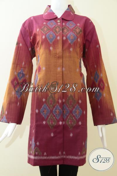 Baju Tenun Exclusive Untuk Wanita Pegawai Bank Blus Tenun