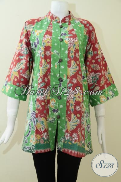 Baju Blus Batik Fatin Warna Cerah Ceria Bahan Katun Halus