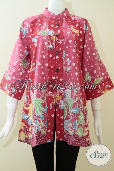 Jual Blus Batik Trend Mode 2014, Baju Batik Fatin Warna Cerah Menawan