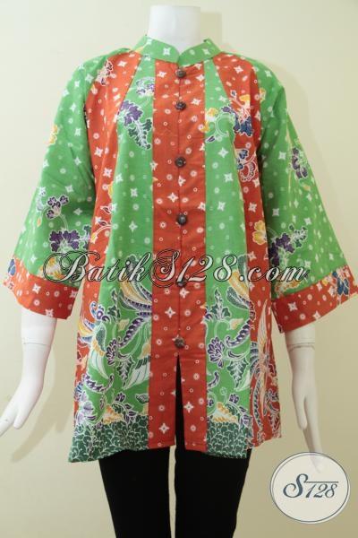 Jual Blus Batik Fatim Dengan Harga Terjangkau, Baju Batik Atasan Lingkar Dada Besar Warna Dan Motif Terbaru Untuk Cewek Tampil Lebih OK, Size L