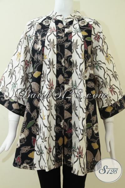 Baju Batik Wanita Gemuk Model Fatin Kombinasi Warna Bagus