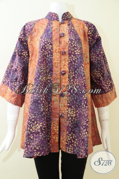 Jual Busana Atasan Gaul Untuk Perempuan Muda Dan Remaja Putri, Baju Batik Semi Tulis Warna Modern Dan Modis, Size S