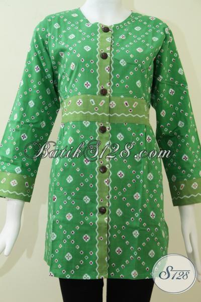 Blus Batik Kerja Wanita Lengan Panjang [BLS1306P-L]