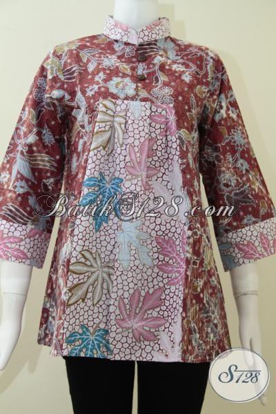 Baju santai batik wanita asli buatan batik solo bls1312p Baju gamis santai
