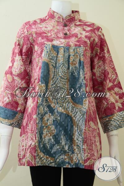 Baju Batik Printing Murah Terjangkau, Blus Batik Solo Paling Laris Halus Nyaman Dipakai, Size M