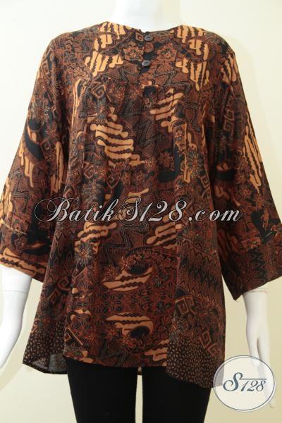 Blus Batik Klasik Modern Wanita Dewasa, Pakaian Batik Pesta Arisan Hingga Kondangan Dengan Harga Terjangkau, Size S