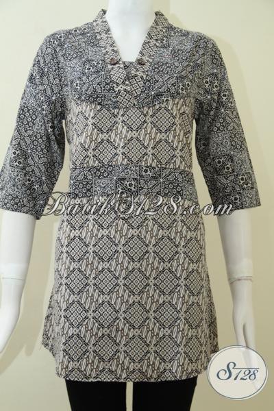 Butik Batik Solo Modern Paling Up To Date, Sedia Blus Batik Kerja Untuk Seragam Kator Wanita Karir, Size S