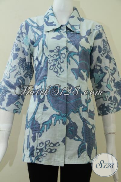 Jual Busana Batik Untuk Wanita Pegawai Bank [BLS1326BT-L]