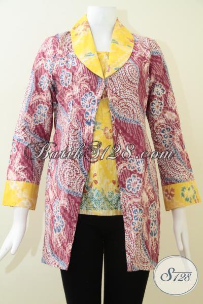 Jual Pakaian Batik Berkwalitas Bagus Dengan Harga Murah, Baju Blus Batik Solo Trendy Modern Dan Paling Laris, Size M